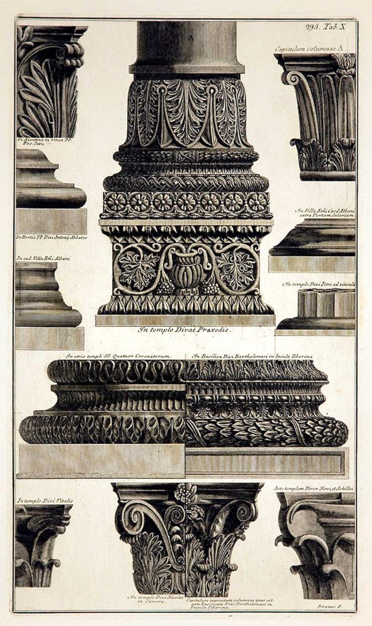 Piranesi's Roman Bases and Capitals