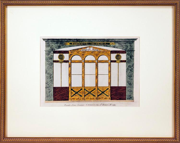 Framed Parisian Boutique, 1925