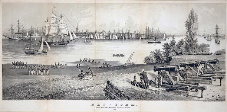 c1860 View from Governors Island, NYC