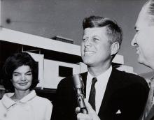 John F. Kennedy and Jackie at Airport