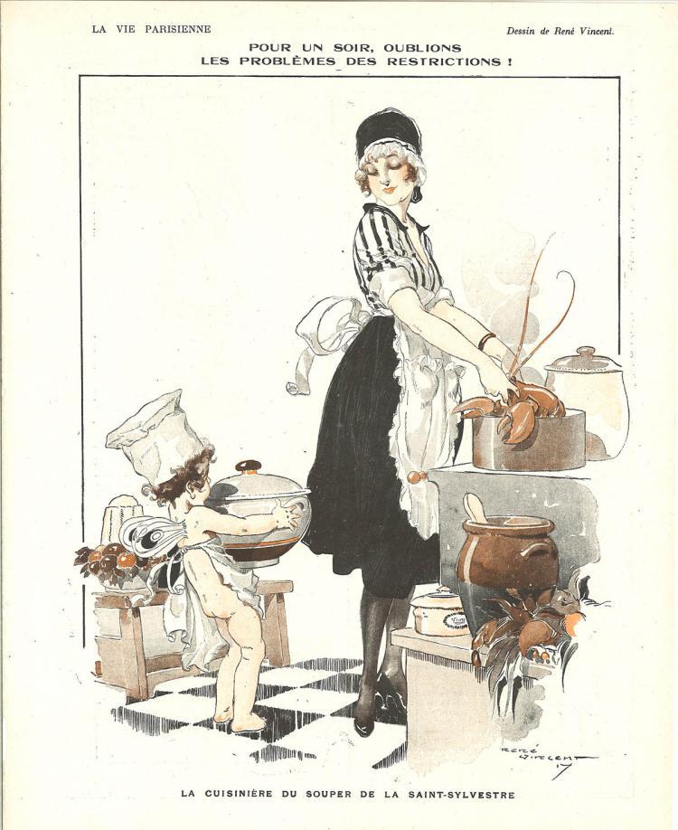 1917 Parisian Mother's Little Helper