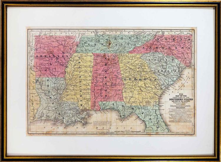 1839 Map of Southern States
