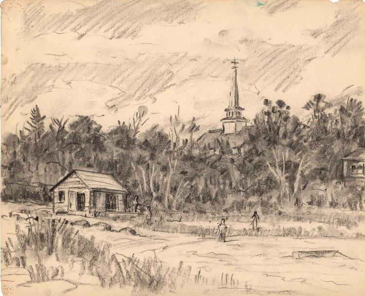 Fire Island NY sketch by Henry Ives Cobb