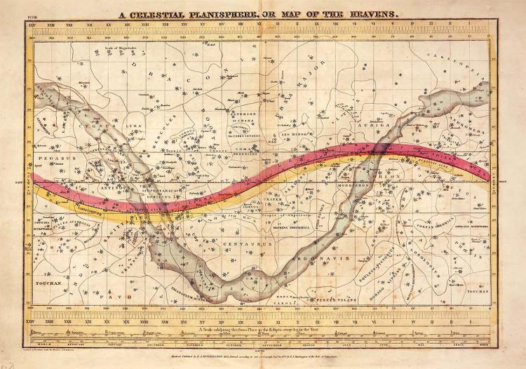 1835 Celestial Map of the Heavens