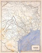 1844 Texas Republic Map