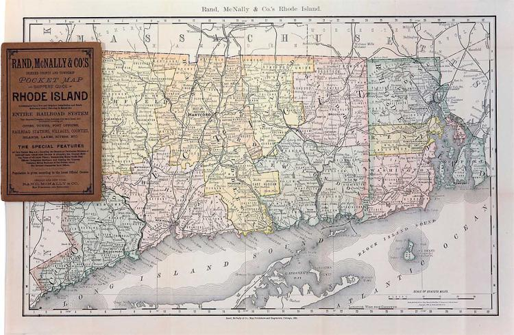 Map of Connecticut & Rhode Island