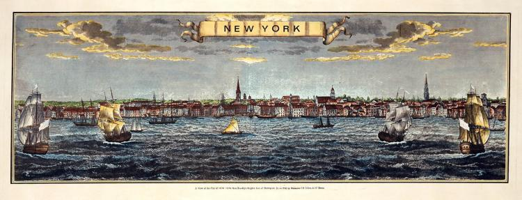 18th c View of New York Harbor
