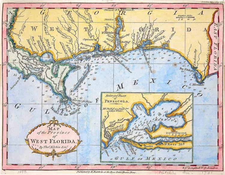 18th-C. Map of West Florida