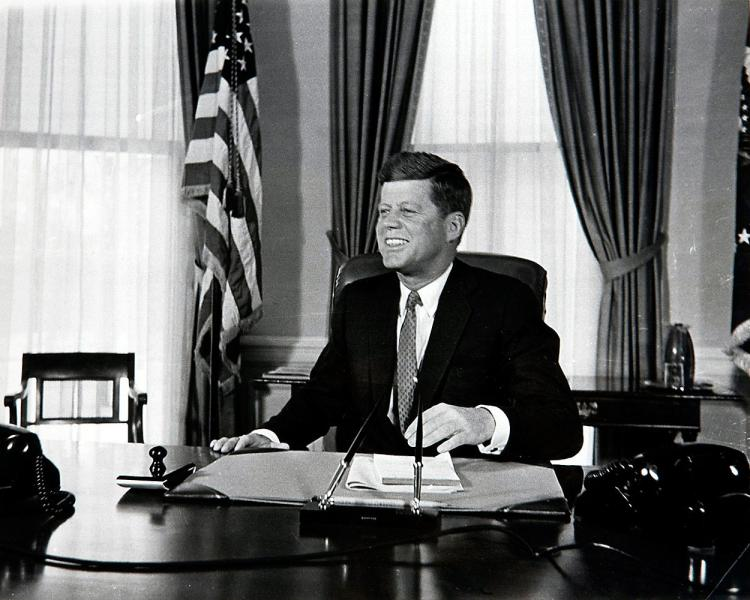 John F. Kennedy at Desk 1961