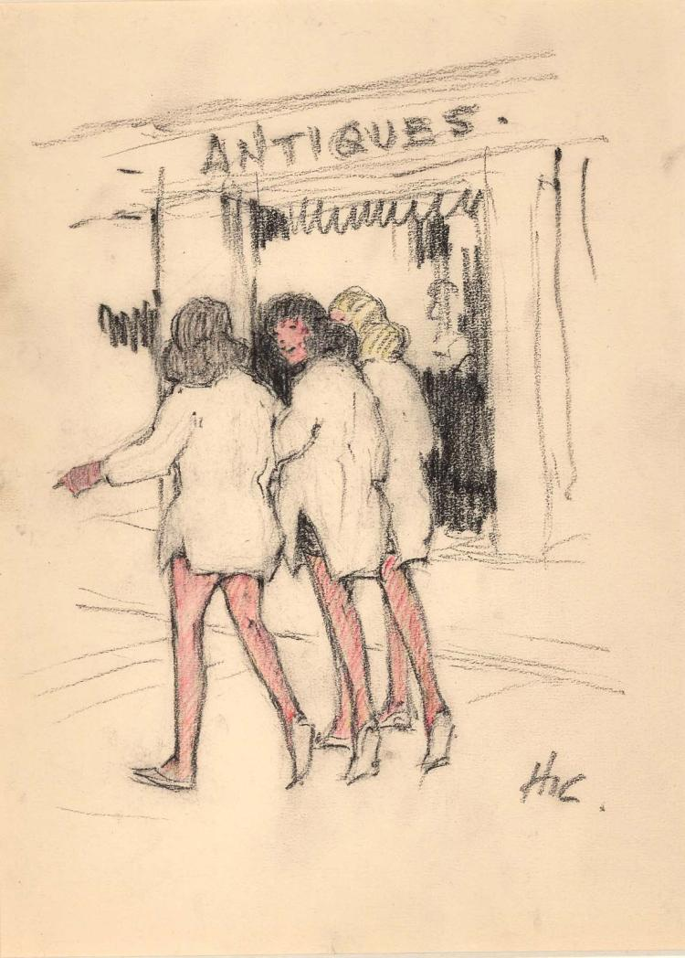 Ladies Shopping by Henry Ives Cobb Jr.