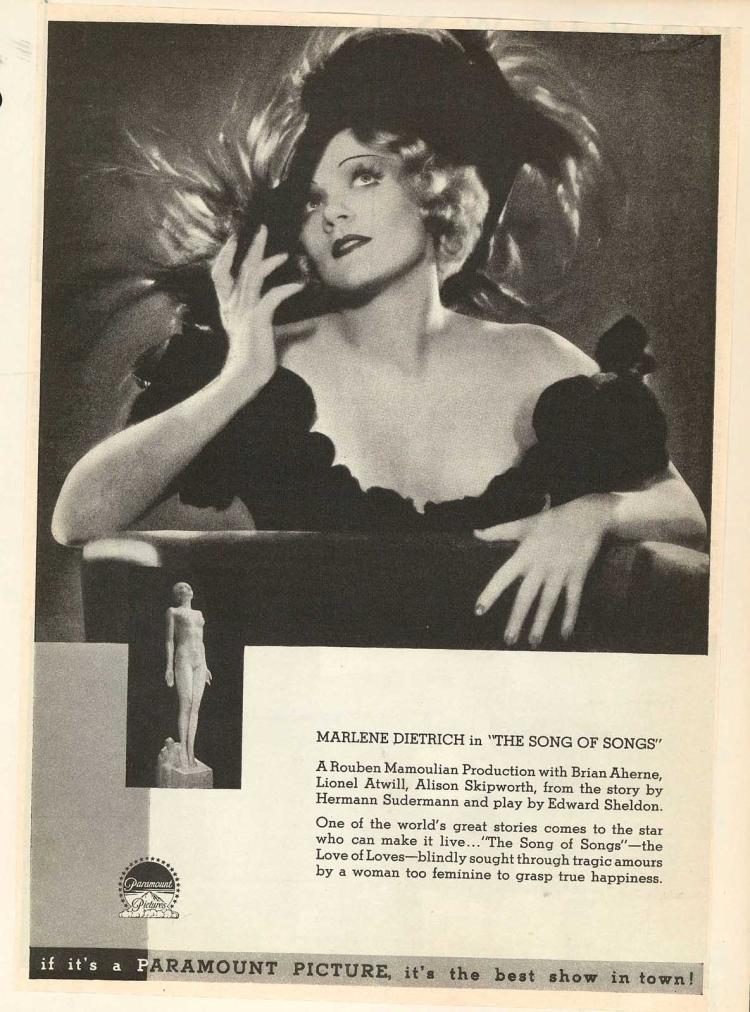 Marlene Dietrich in Song of Songs