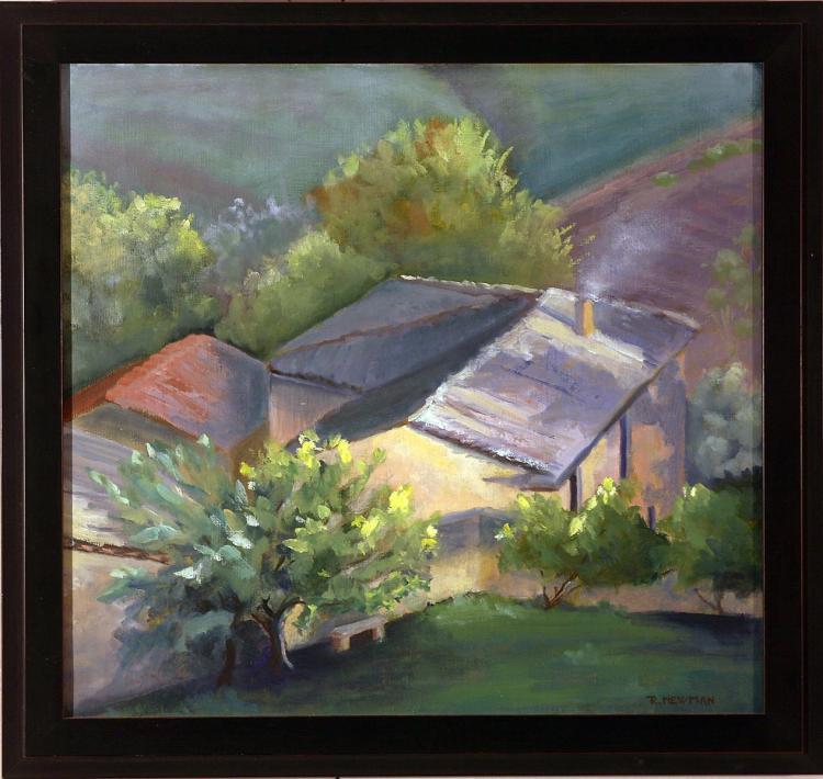 Capriano Farm in Tuscan Landscape
