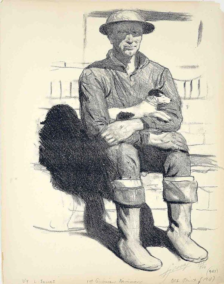 WWI American Soldier with Dog