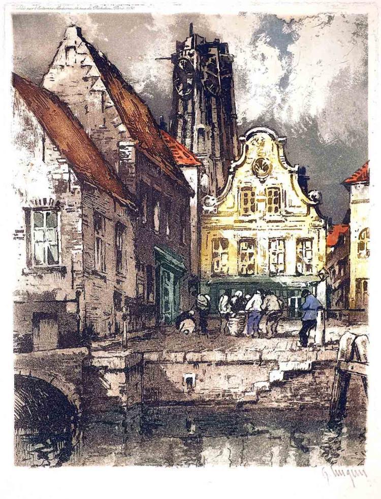 Brussels Canal Scene