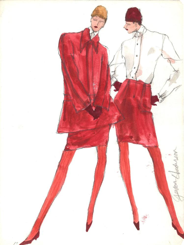 Fashion Drawing #7 by Gordon Henderson