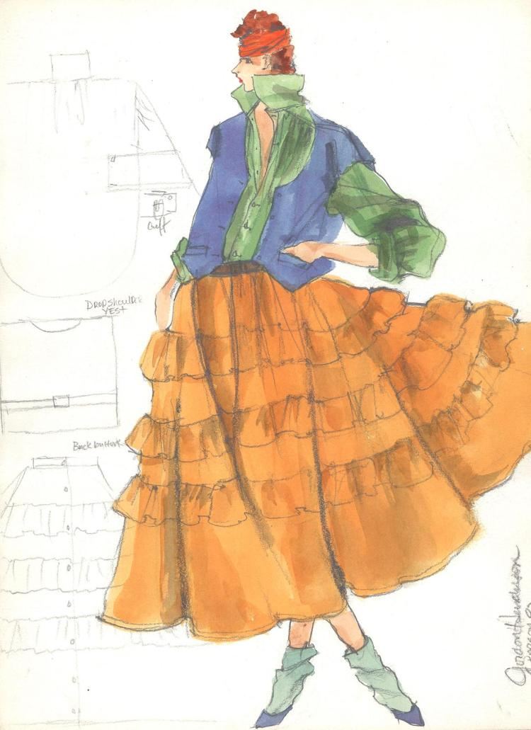 Fashion Drawing #1 by Gordon Henderson