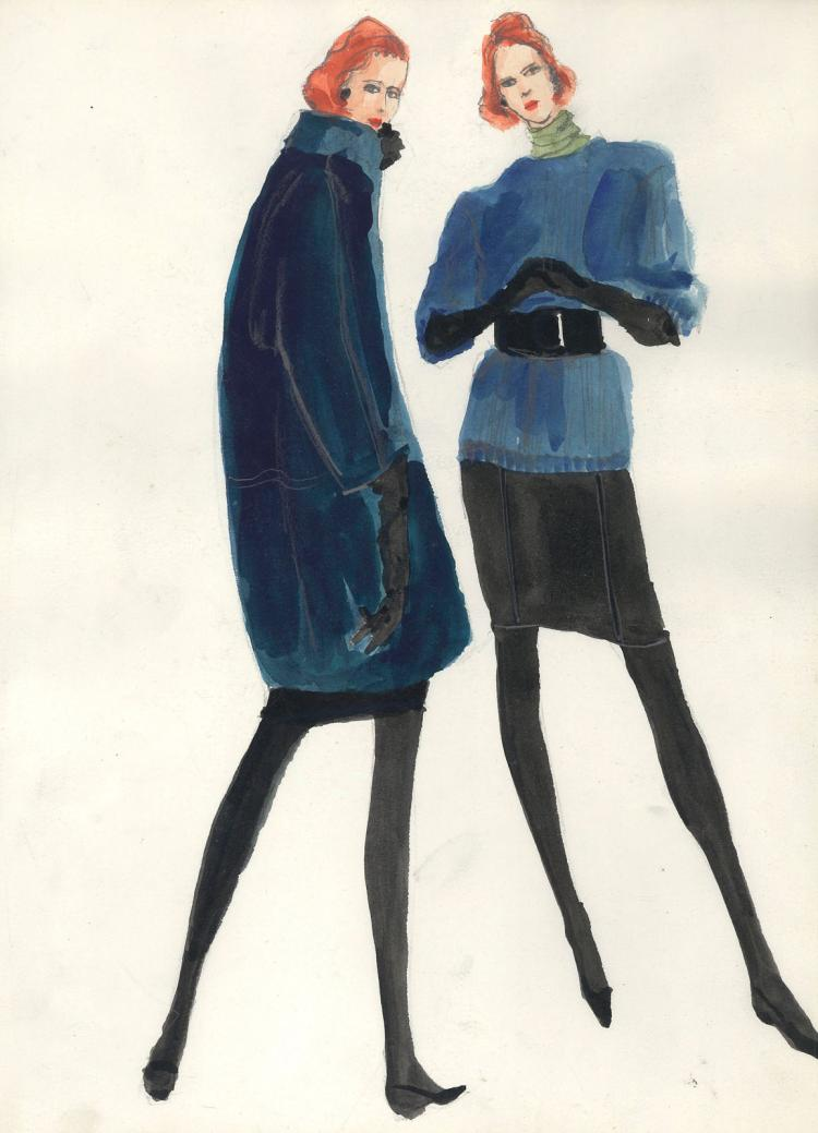 Fashion Drawing #3 by Gordon Henderson