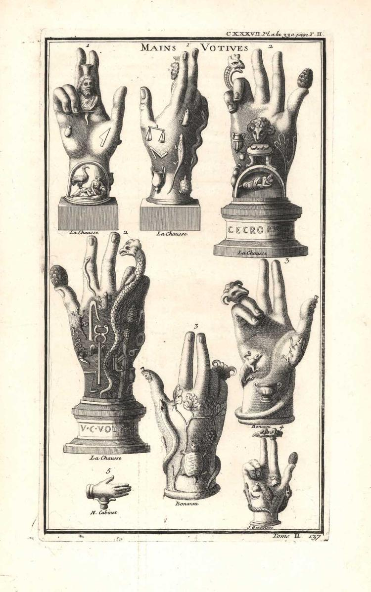 Neoclassical Hand of Sabazius Engraving