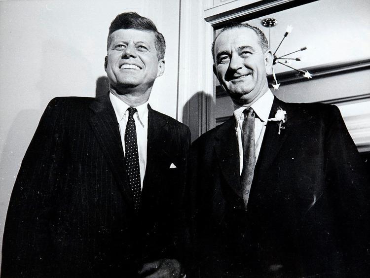 JFK and Lyndon Johnson