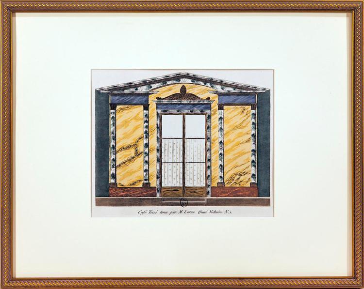 Framed Parisian Boutique, Quai Voltaire1, 1925