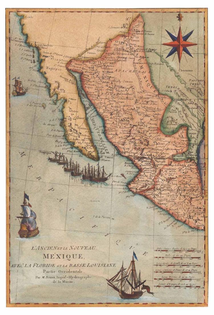 Map of California, C. 1780