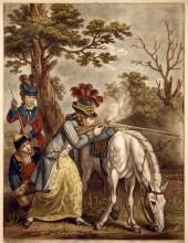 Aristocratic Woman Discharging Rifle