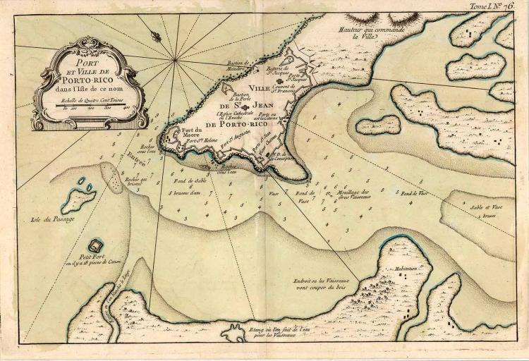 1764 Map of Puerto Rico