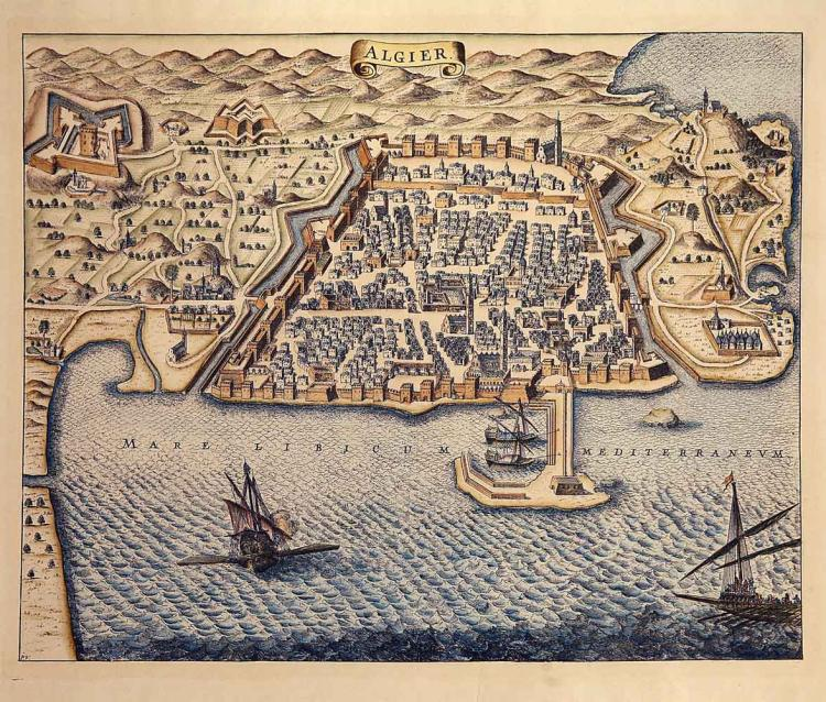 17c Map of Algiers