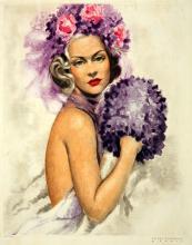 The Violet Muff by Van Caulaert
