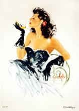 Femme Fatale in Black Dress