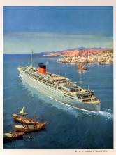 Cunard Line Caronia Poster
