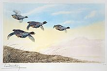 Four Pheasants in Flight