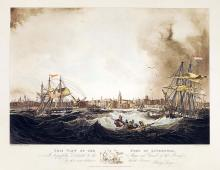 Storm Tossed Liverpool Harbor