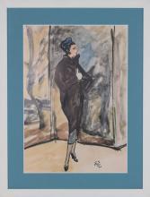 Elegant Parisian in Pillbox Hat
