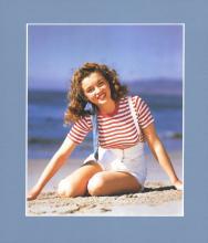 Marilyn Monroe at Malibu Beach, 1945