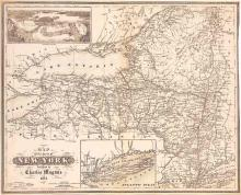1854 Map of New York State
