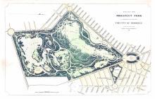 1866 Plan for Prospect Park Brooklyn