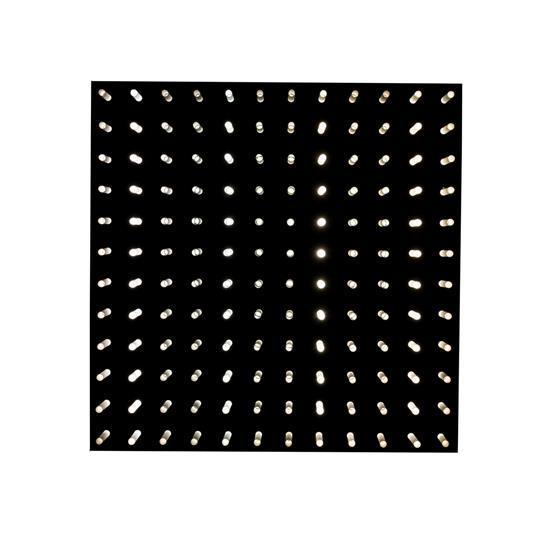 Fabrizio Cocchia (né en 1931) & Gianfranco Fini (né en 1936) Quanta, 1970 Panneau de métal noir laqué et bâtonnets en méthacrylate E...
