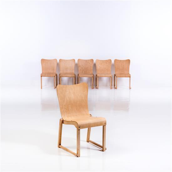 Axel Larsson (1885-1941)Ensemble de six chaises