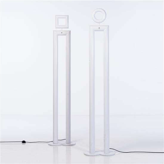 Benetton Stores (XXe)Paire de lampadaires