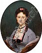 Edouard DUBUFE (Paris 1820-1883) Portrait de madame Asselin, Louis-Edouard Dubufe, Click for value