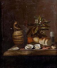 Attribué à Juriaan van STREECK (1632-1687) Nature morte aux huîtres