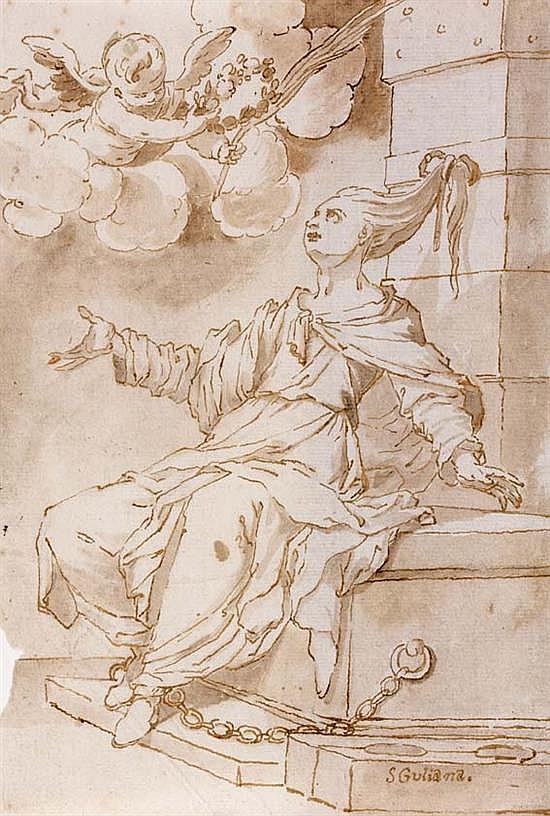 Cornelis SCHUT III (Anvers 1629-Séville 1685) Sainte Giuliana