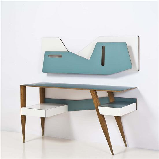 Gio ponti 1891 1979 bureau et son tag re for Bureau etagere