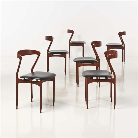 Travail italiensuite de six chaises for Chaise de travail
