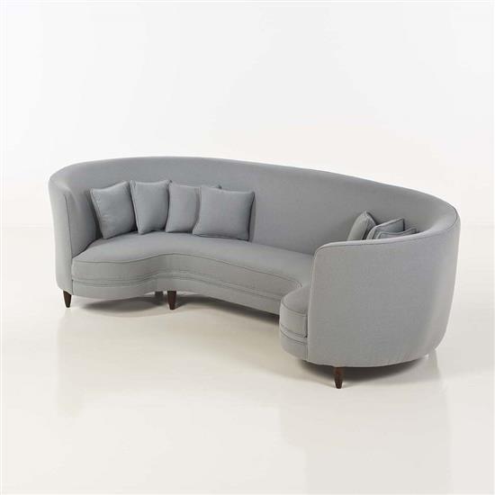 travail italien sofa textile et bois date de cr ation vers. Black Bedroom Furniture Sets. Home Design Ideas