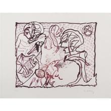 Pierre Alechinsky (né en 1927)Pour Malcolm Lowry - 1969