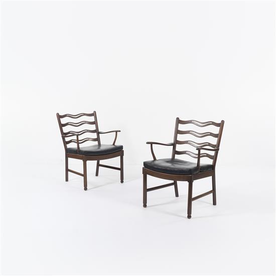 Ole Wanscher (1903-1985)Paire de fauteuils