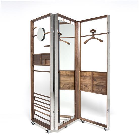 ƒ* Li Naihan The Cloth Valet Penderie / Paravent Série Stainless Steel Crates Bois et acier Edition limitée à 12 exemplaires   2 E