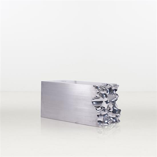 ƒ Shi Jianmin Gold Brick Table basse Acier Edition limitée à 8 exemplaires   2 E